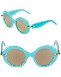 Pomellato - 51mm Round Sunglasses - Lyst