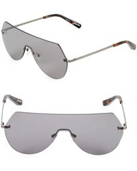 Elizabeth and James - Frameless 60mm Shield Sunglasses - Lyst