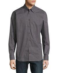 Robert Talbott - Plaid Cotton Button-down Shirt - Lyst