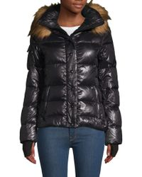 S13/nyc - Faux Fur-trimmed Puffer Jacket - Lyst