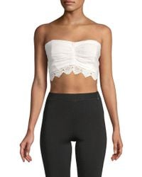 Free People - Dream Lover Linen Cropped Top - Lyst