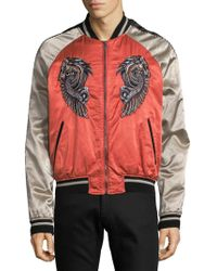 Roberto Cavalli - Embroidered Graphic Bomber Jacket - Lyst