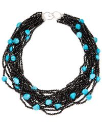 Arthur Marder Fine Jewelry - Silver & Turquoise Multi-strand Beaded Necklace - Lyst