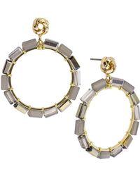 Saachi - Mosaic Beaded Hoop Earrings - Lyst