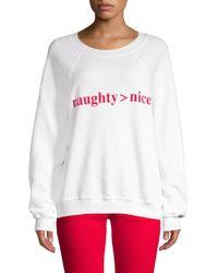 Wildfox - Naughty Nice Sweater - Lyst