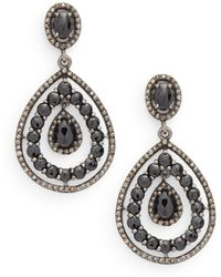 Bavna - Sterling Silver Drop Earrings - Lyst