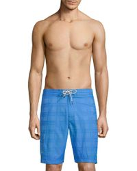 Tommy Bahama - Baja Plaid Swim Shorts - Lyst