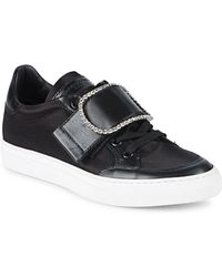 John Galliano - Embellished Buckle Low-top Trainers - Lyst