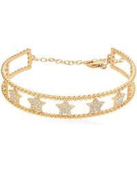 Gabi Rielle - White Crystal Adjustable Cuff Bracelet - Lyst