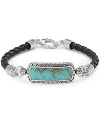 Effy - Leather & Sterling Silver Bracelet - Lyst