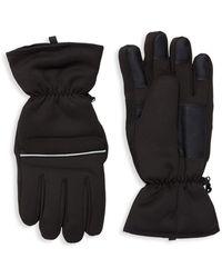 Saks Fifth Avenue - Taslan Softshell Gloves - Lyst