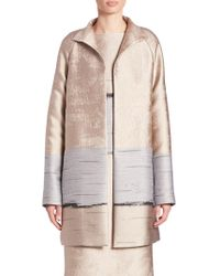 Lafayette 148 New York - Jacquard Long Aalyah Coat - Lyst