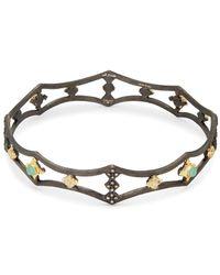 Armenta - Diamond, Malachite, Rainbow Moonstone, 18k Gold And Sterling Silver Bracelet, 0.32 Tcw - Lyst