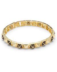 Noir Jewelry - Cubic Zirconia & 18k Gold-plated Bracelet - Lyst