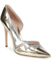 41546779a12e Lyst - Jimmy Choo Patent Zigzag Anklewrap Sandal in Natural