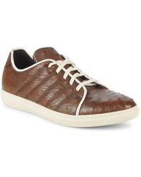 Mezlan - Ostrich Leather Trainers - Lyst