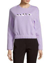 Carven - Long-sleeve Cotton Sweatshirt - Lyst