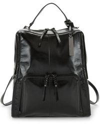 Vince Camuto - Patent Leather Rectagular Backpack - Lyst