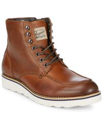 Original Penguin | Nigel Leather Ankle Boots | Lyst