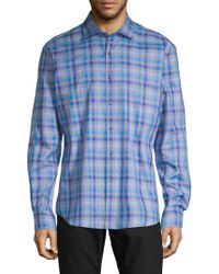 Bugatchi - Plaid Long-sleeve Button-down Shirt - Lyst