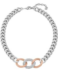 Swarovski - Bound Chunky Curb Chain Necklace - Lyst