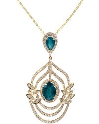 Effy - Brasilica 14k Yellow Gold, Diamond And Natural Emerald Necklace - Lyst