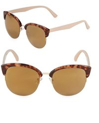 Fantaseyes - Mirrored 52mm Clubmaster Sunglasses - Lyst