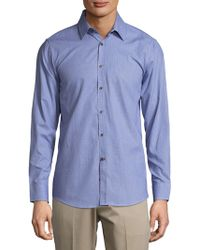 Report Collection - Cotton Casual Button-down Shirt - Lyst