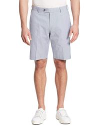 Saks Fifth Avenue - Textured Cotton Blend Shorts - Lyst