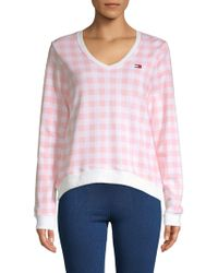 Tommy Hilfiger - Plaid Cotton Blend Sweater - Lyst