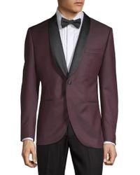 Lubiam - Diamond-print Tuxedo Jacket - Lyst