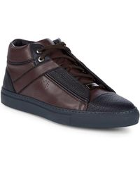 Brioni - Grained Leather Chukka Sneakers - Lyst