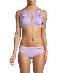 Carmen Marc Valvo - Classic Ruffle Bikini Top - Lyst