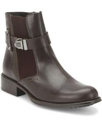 Aquatalia - Ulrika Leather Ankle Boots - Lyst