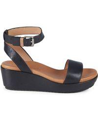 Gentle Souls - Morrie Leather Platform Wedge Sandals - Lyst