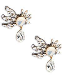 Tataborello - Crystal Studded Earrings - Lyst
