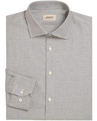 Giorgio Armani - Regular-fit Micro Printed Shirt - Lyst