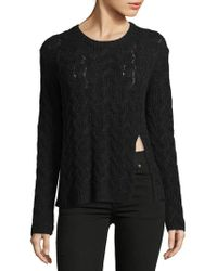 INHABIT - Luxe Cable Cashmere Sweater - Lyst