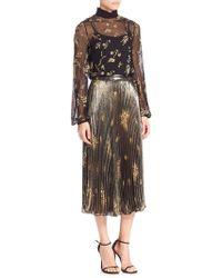 SUNO - Plaid Mohair Sequined Silk Tunic - Lyst