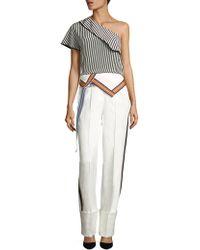 Diane von Furstenberg - One-shoulder Silk Crepe De Chine Top - Lyst