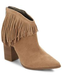 Kenneth Cole Reaction - Pull Down Point Toe Suede Ankle Boots - Lyst
