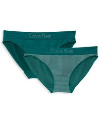 d867056e331a Calvin Klein Active Logo Triangle Bikini Top in Black - Lyst
