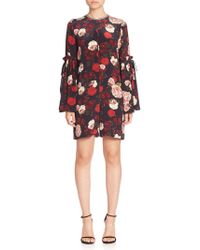 Mother Of Pearl - Curtis Silk Bell Sleeve Romper - Lyst
