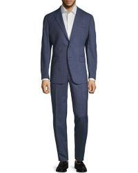 Saks Fifth Avenue - Plaid Wool Suit - Lyst