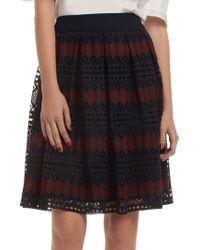Trina Turk - Leland Crochet Knit Skirt - Lyst
