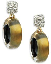 Alexis Bittar - Crystal Domed Circle Drop Earrings - Lyst