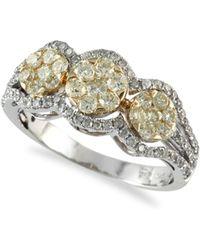 Effy - Yellow Diamond, 14k White & 14k Yellow Gold Cocktail Ring - Lyst