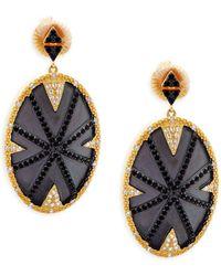 Freida Rothman - Pavé Dome Drop Earrings - Lyst