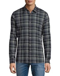 John Varvatos - Mayfield Plaid Casual Button-down Shirt - Lyst