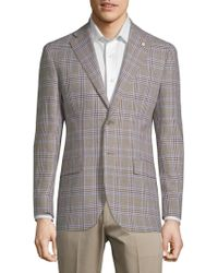 Lubiam - Plaid Slim Sportcoat - Lyst